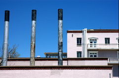 Fábrica, Santa Fe, New México Imagen de archivo