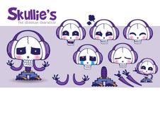 Fábrica-Skullie's da mascote dos desenhos animados Imagens de Stock Royalty Free