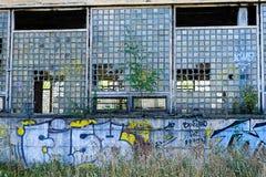 Fábrica soviética abandonada Svetlana em StPetersburg, Rússia Foto de Stock Royalty Free
