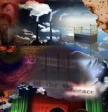 Fábrica surrealista stock de ilustración