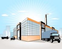 Fábrica + transporte Imagem de Stock