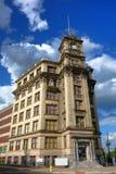 A fábrica trapezoide da caixa de relógio no beira-rio NJ Imagens de Stock Royalty Free