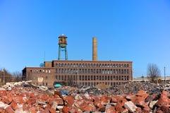 Fábrica urbana del destrozo Foto de archivo