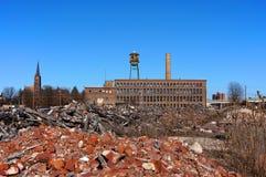 Fábrica urbana del destrozo Imagen de archivo libre de regalías