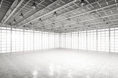 Fábrica vazia interior Foto de Stock