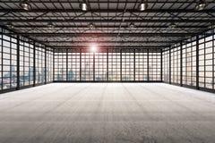 Fábrica vazia interior Imagens de Stock