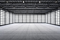 Fábrica vazia interior Fotografia de Stock