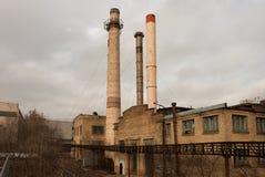 Fábrica velha Fotografia de Stock