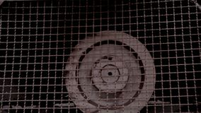 Fábrica velha do fã industrial video estoque