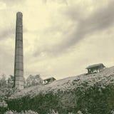 Fábrica velha do tijolo em Zemun fotografia de stock royalty free