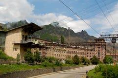 Fábrica velha que data dos tempos de União Soviética em Armênia Imagem de Stock Royalty Free