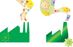 Fábrica verde libre illustration