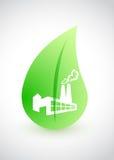 Fábrica verde - concepto ambiental con la hoja Fotografía de archivo libre de regalías
