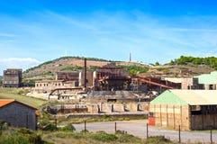 Fábrica vieja de la explotación minera Imagen de archivo libre de regalías