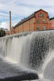 Fábrica vieja del ladrillo. Paisaje industrial. Norrkoping. Suecia fotografía de archivo
