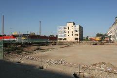 Fábrica vieja Proletarul en Bacau Imagen de archivo