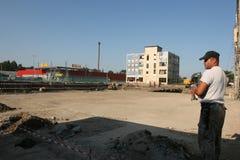 Fábrica vieja Proletarul en Bacau Imágenes de archivo libres de regalías