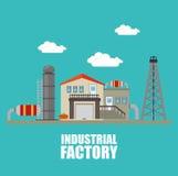 Fábrica y maquinaria de la industria Imágenes de archivo libres de regalías