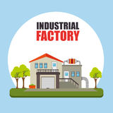 Fábrica y maquinaria de la industria Fotografía de archivo libre de regalías