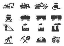 Fábrica y símbolos de la industria Imagen de archivo libre de regalías