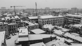 Fábricas viejas de Bucarest fotos de archivo libres de regalías