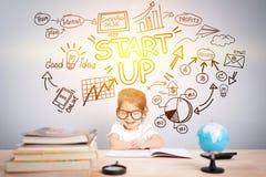 Fácil comece acima o conceito da gestão do planejador do negócio Foto de Stock Royalty Free