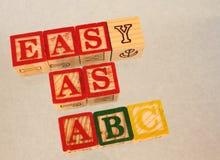 Fácil como o ABC fotos de stock royalty free
