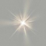 Fácil de utilizar Efecto de la luz especial de la llamarada de la lente de la luz del sol EPS 10 ilustración del vector