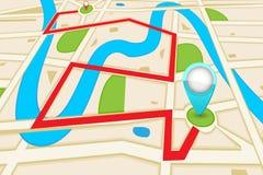 Mapa de estradas Foto de Stock Royalty Free