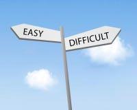Fácil ou difícil Foto de Stock Royalty Free