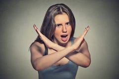 Fâché pissé de la femme photographie stock libre de droits