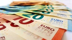 Fã de cédulas do Euro fotografia de stock royalty free