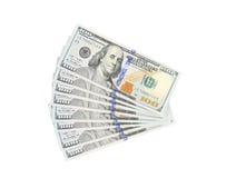 Fã de 100 dólares de dólares Foto de Stock Royalty Free