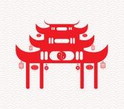 Fã de dobramento chinês que meansGreeting o ano novo chinês Foto de Stock
