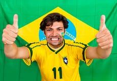 Fã de esportes brasileiro Fotografia de Stock