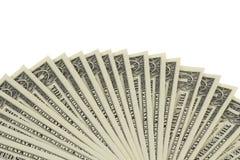 Fã de notas do dólar Foto de Stock