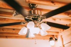 Fã de teto luxuoso bonito Fotos de Stock