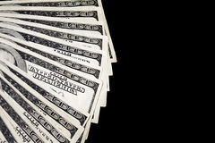Fã do dinheiro imagem de stock