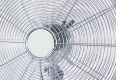 Fã do metal do cromo do refrigerador de ar em um fundo branco Fotos de Stock