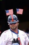 Fã dos New York Giants após 9/11/2001 imagens de stock