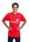 Fã feliz do Chile Fotografia de Stock Royalty Free