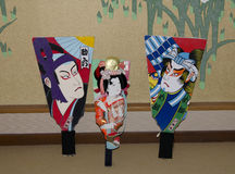 Fã japonês da pá Foto de Stock Royalty Free