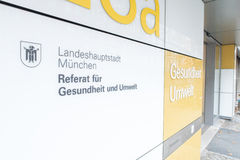 FÃ Münchens Referat ¼ r Gesundheit und Umwelt Lizenzfreies Stockbild
