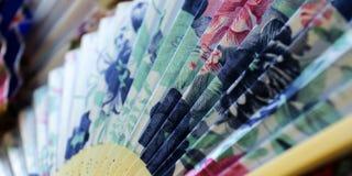 Fã pintado colorido foto de stock