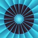Fã radial ilustração do vetor