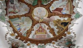FÃ ¼ ssen大教堂,一块美好的天花板 免版税库存照片
