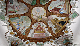 FÃ ¼ ssen Kathedraal, een Mooi Plafond Royalty-vrije Stock Foto's