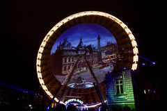 Fête DES Lumières - Lyon - feuern Sie Rad ab Stockfotos