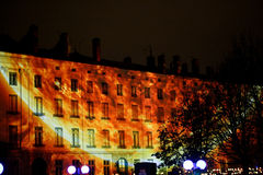 Fête DES Lumières - Lyon - feuern Sie Rad ab Stockfoto