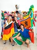Fãs de esportes internacionais Fotos de Stock Royalty Free